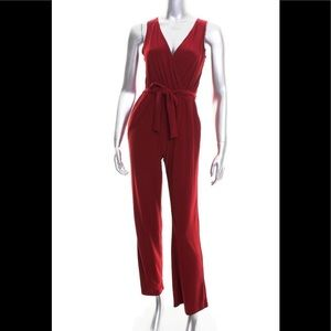 NY Collection  Burgundy Wide Leg Jumpsuit PXS